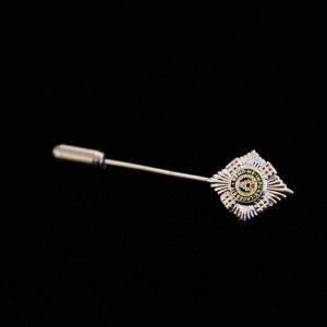Silver & Enamel Scots Guards Tie Pin
