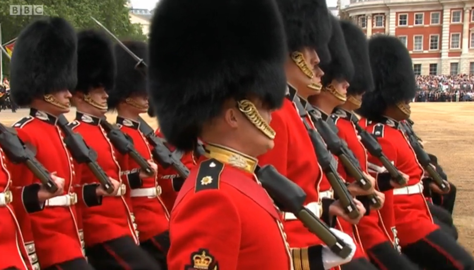 F Company on The Queen's Birthday Parade 2016
