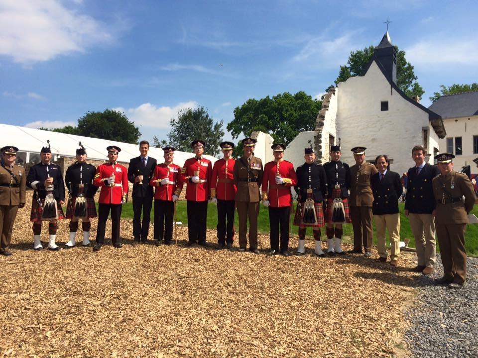 Scots Guards at Hougoumont Farm